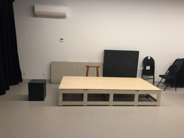 Digital rehearsal studio set-up.